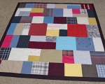 Quilt Made Out Of Clothes