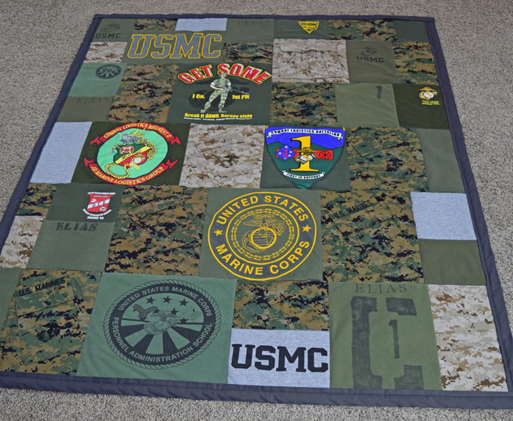 Military Memory Quilt - Military Uniform Quilt - Military Quilt from JellyBeanQuilts.com