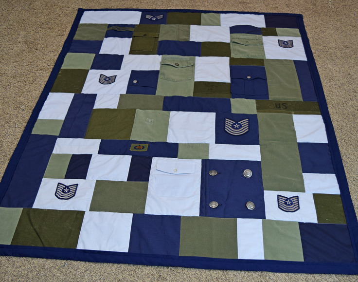 Military Memory Quilt - Military Uniform Quilt - Military Quilts from JellyBeanQuilts.com