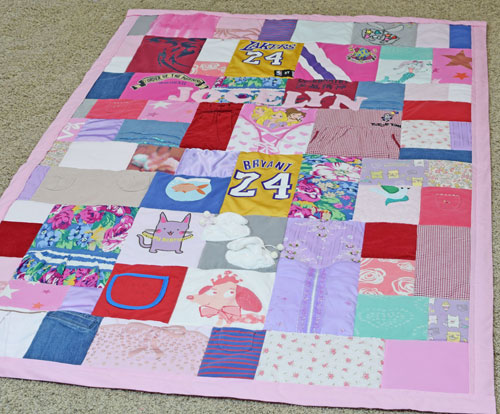 Jocelyn Baby Clothes Quilt