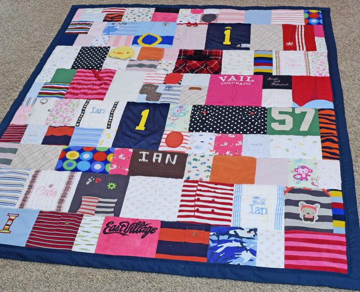 Baby Clothes Memory Quilt Jelly Bean Quilts