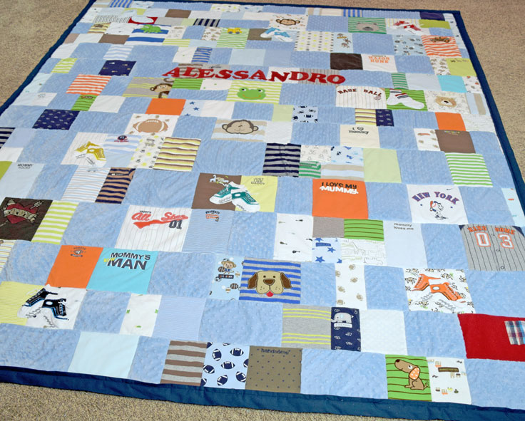 Quilt Made From Baby Clothes Jelly Bean Quilts