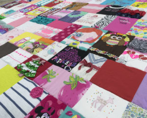 Baby Clothes Quilt Close Up
