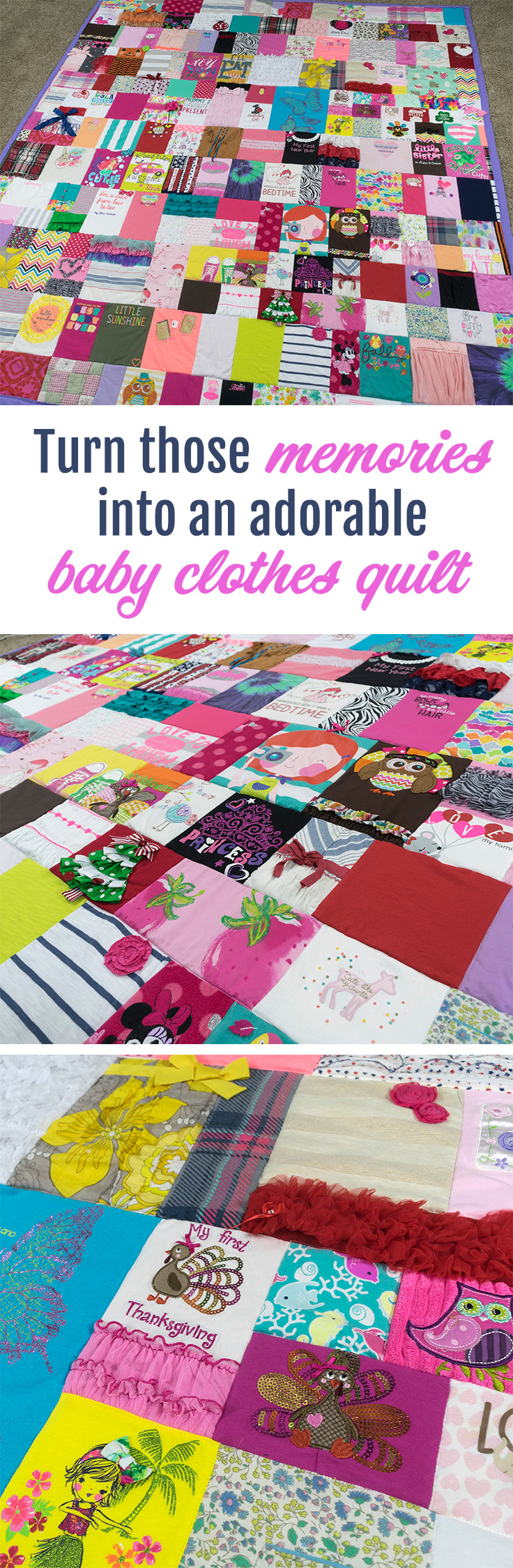 MUST DO with my kiddos clothes! This lady makes the cutest baby clothes quilts! jellybeanquilts.com