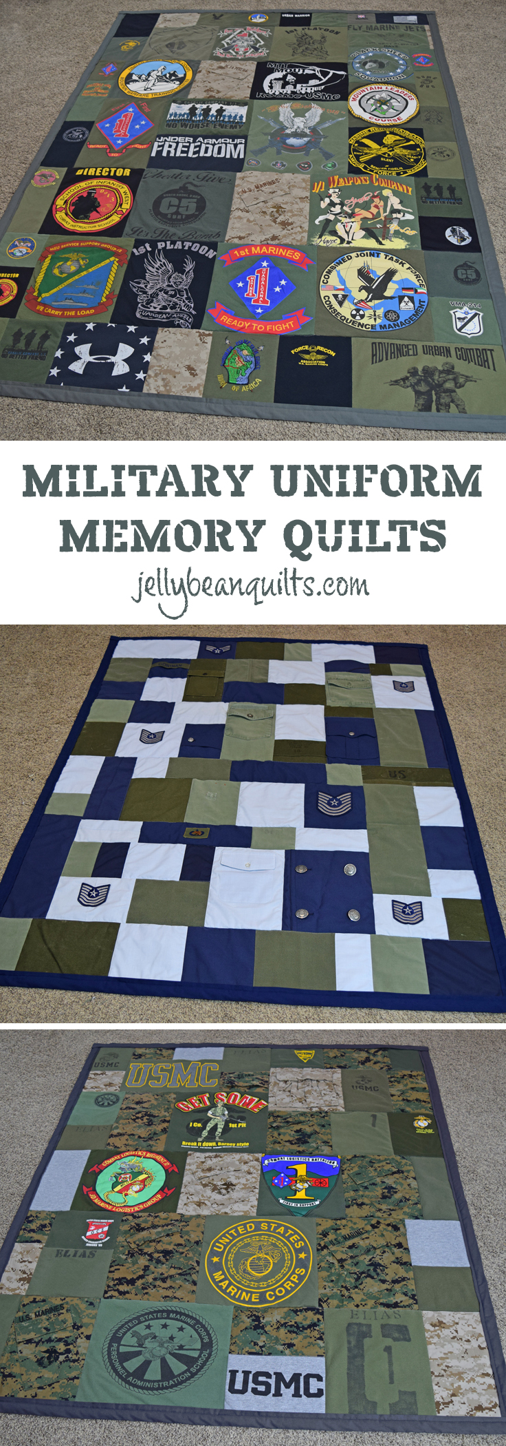 Military Quilts, Military Uniform Quilts, Military Memory ...