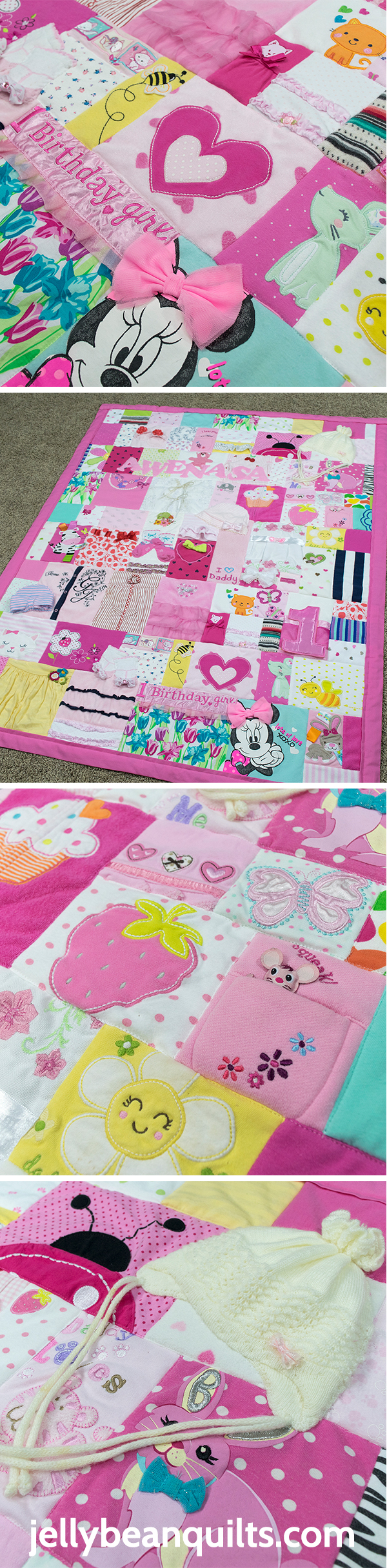 MUST DO with baby's first year clothes! Quilt from Baby Clothes - JellyBeanQuilts.com